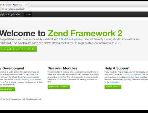 Nuestro primer proyecto con Zend Framework